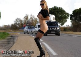 Flashing and nude in public on the road