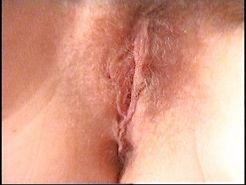 Hairy amateur wife pink pussy round anus nice ass cum