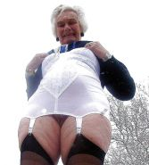 Old granny loves her  girdle