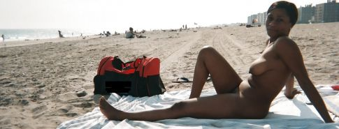 Black Girls at the Beach: Nudists and Exhibitionists #27813672