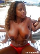 Black Girls at the Beach: Nudists and Exhibitionists #27813834