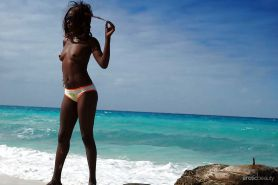 Black Girls at the Beach: Nudists and Exhibitionists #27813959