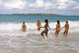 Black Girls at the Beach: Nudists and Exhibitionists #27814089