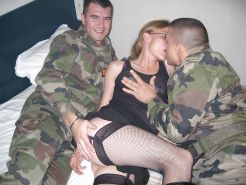 Soldiers gangbang a white wife