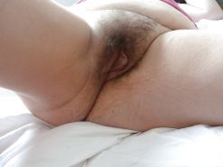 Hairy pussy and big clit