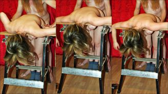 Bea - Clamp the breasts into the bench vice.