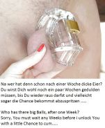 Femdom and Male Chastity Chaptions German and English