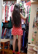 Sweet Asian Kazakh Girl Good Shoping in Russian Store