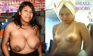 BIG AND SMALL MEXICAN BOOBS