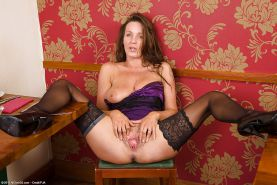 Granny and mature  stockings and pantyhose
