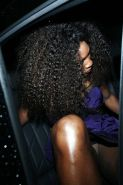 Serena Williams White Panty Upskirt Out of the Limo