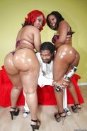 Busty black babes with big booties Luscious and Janae getting fucked