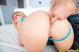 Naive babe in sexy glasses Aj Applegate loves working with big cocks