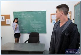 Busty teacher Eva Karera blows and fucks her student's big cock