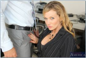Big busted office MILF in stockings Nikki Sexx gets pounded hardcore