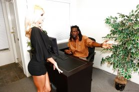 Filthy teen blonde Erica Fontes gets screwed hardcore by a black guy