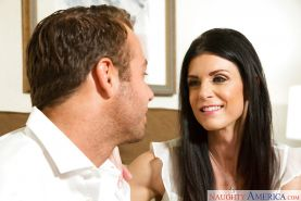 Hot MILF India Summer opens mouth wide for face fuck from massive dick