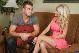 Milf wife Kayla Kayden is banging with her new hot friend in the bed