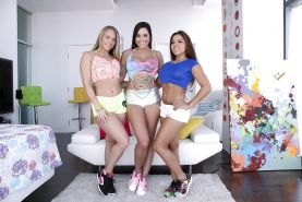 Latina pornstars AJ Applegate, Morgan Lee and Karlee Grey model non nude