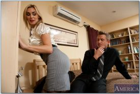 MILF Tanya Tate takes off her panties to feel a massive cock inside