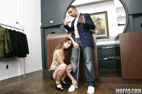 Teen office slut Amber Rayne has hardcore reality sex with client