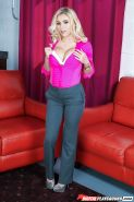 Blonde model Marsha May unveiling big boobs and tattoos in the nude