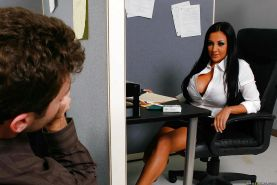 Hot office slut Audrey Bitoni gets fucked right in the storage room