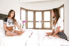 Janice Griffith and August Ames are two horny lesbians teens