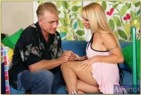 Exquisite MILF Holly Halston strips her impressive boobs and fucks hard