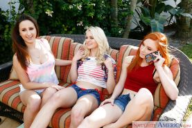 Alex Tanner, Alli Rae and Ashley Adams in a hot amazing group sex