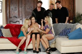 Busty chicks Ashley Adams, Cali Carter and Cadence Lux enjoy orgy sex
