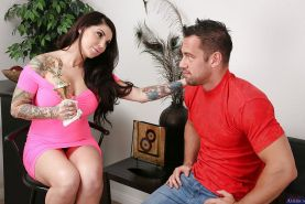 Hardcore sex with tattooed cowgirl Darling Danika and her man