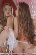 Long legged cute teen Milena D in stockings bares tiny tits & hairy cunt #51282623