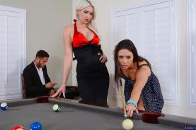 Anna Morna, Gigi Allens playing pool and pleasing one lucky guy