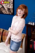 Redheaded babe Sadie Kennedy revealing small 18 year old breasts