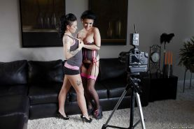 Eva Angelina & Christy Mack have a wild groupsex with a well-hung guy