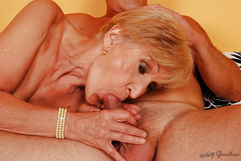 Horny short haired granny with tiny tits gives a blowjob and gets fucked #50993050