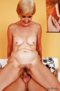 Horny short haired granny with tiny tits gives a blowjob and gets fucked #50993078