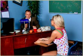 Hot coed in glasses Bree Olsen takes anal fucking from her teacher