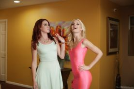Horny moms Charlotte Stokely and Elle Alexandra undress for cunt eating