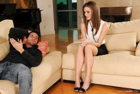 Foot fetish babe Tori Black gives a blowjob and gets slammed hardcore