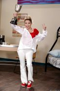 Teen sweetie Marsha May exposing big tits and tattoos while undressing