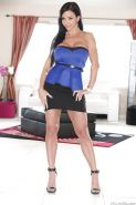 Clothed Latina milf Jewels Jade demonstrates her big tits and ass