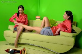 Silvia Sin has some fully clothed lesbian sex with her friend