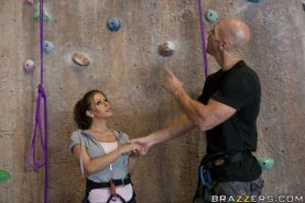 Babe with big boobs Rachel RoXXX gets fucked while climbing lessons