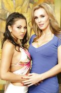 Latina lesbian Adrianna Luna touches Tanya Tate's tits gently