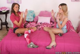 Young babe Tori Black with small tits gets into interracial sex