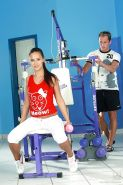 Sporty babe with tiny tits Victoria Sweet is fucking her personal trainer