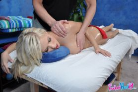 Big busted teen blonde gets a facial cumshot after hardcore fucking