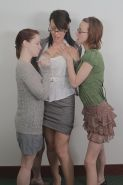 Lesbians Annabelle Lee, Jay Taylor and Zoe Holloway pleasing each other
